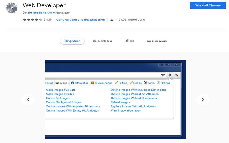 Hướng dẫn tải và cài đặt Web Developer