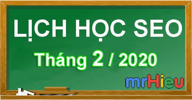 Khóa học seo tháng 2/2020
