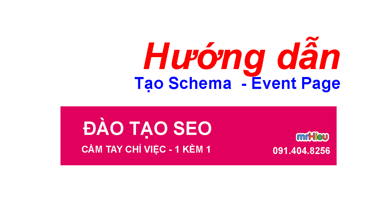 Hướng dẫn tạo Event Page
