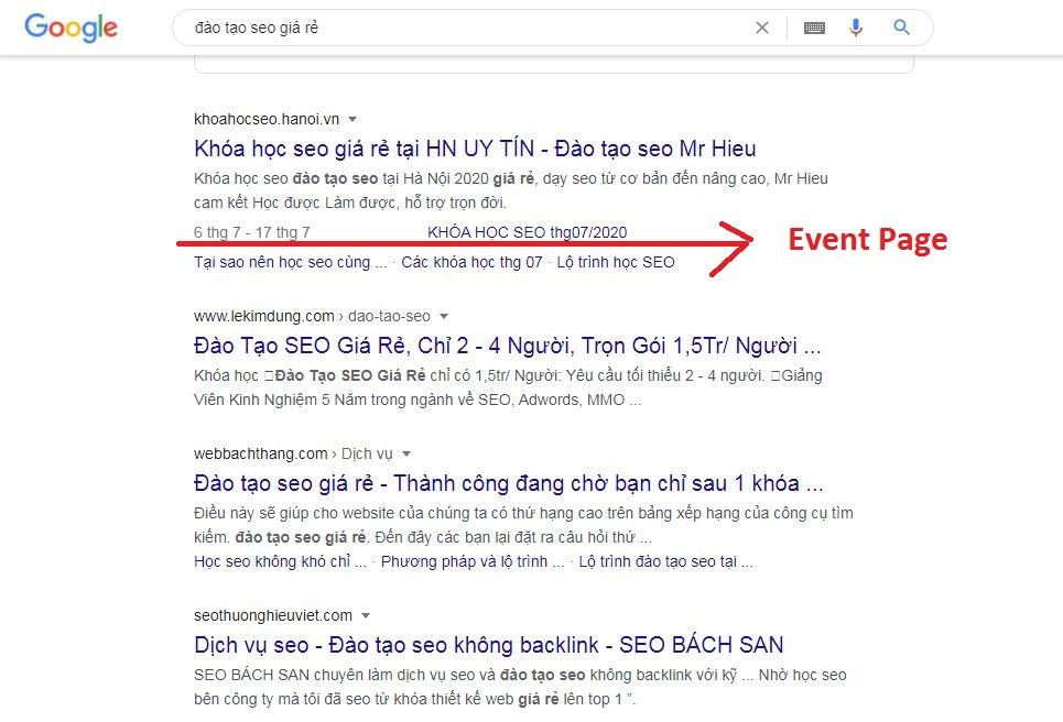 Hướng dẫn tạo Event Page – hoàn toàn thủ công – không plugin