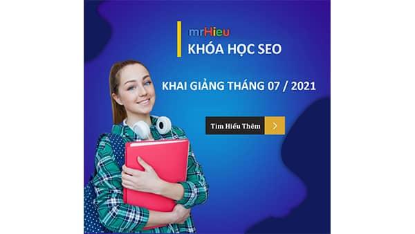 Lịch học seo tháng 7/2021